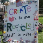CReATE loves to use recycled stuff to make art
