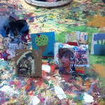 Mini cardboard stand up collages