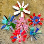 Plastic Bottle Flowers by CVH kids